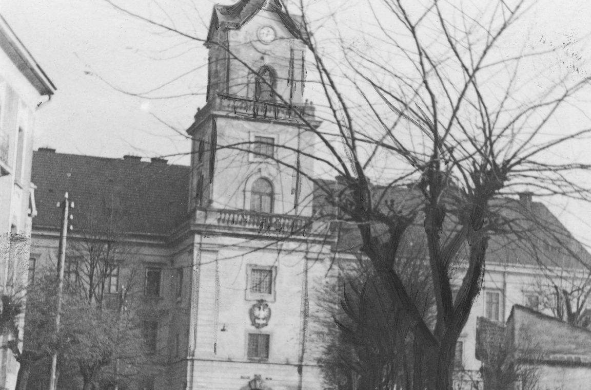 Siedziba Sądu Okręgowego w Rzeszowie znajdująca się w Zamku Lubomirskich, rok 1934