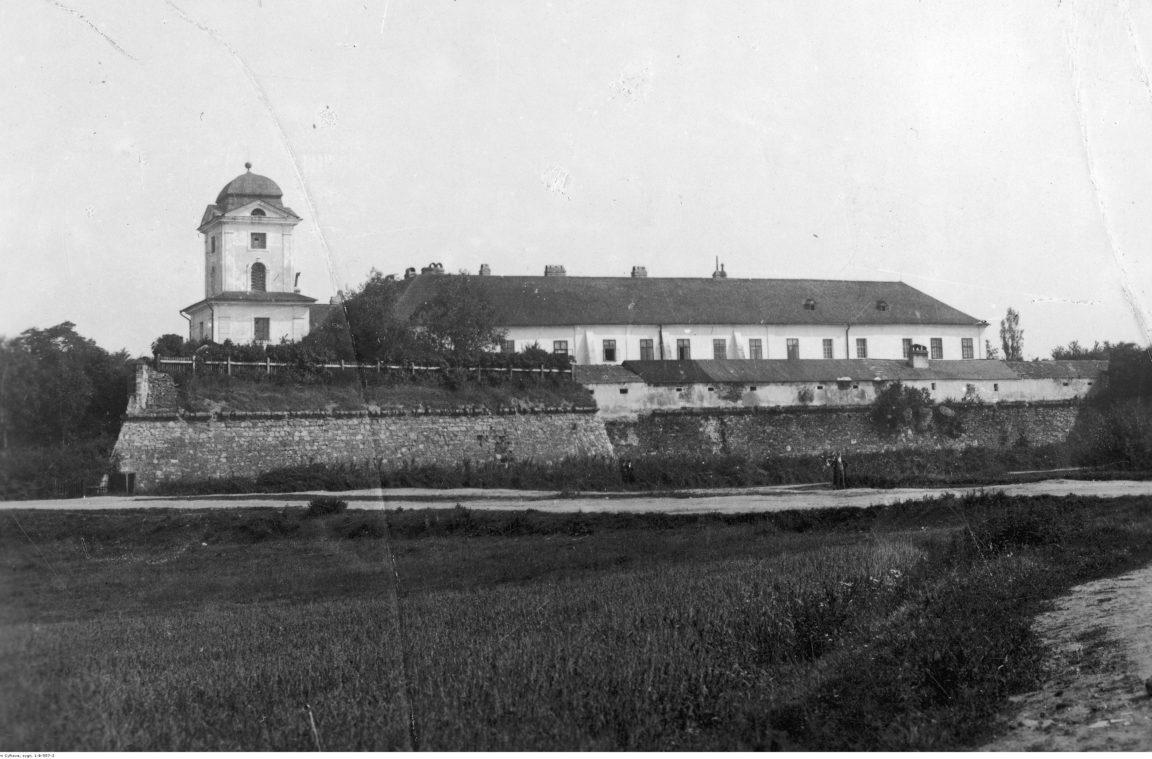 Siedziba Sądu Okręgowego w Rzeszowie znajdująca się w Zamku Lubomirskich. Widok ogólny, rok 1929- 1939
