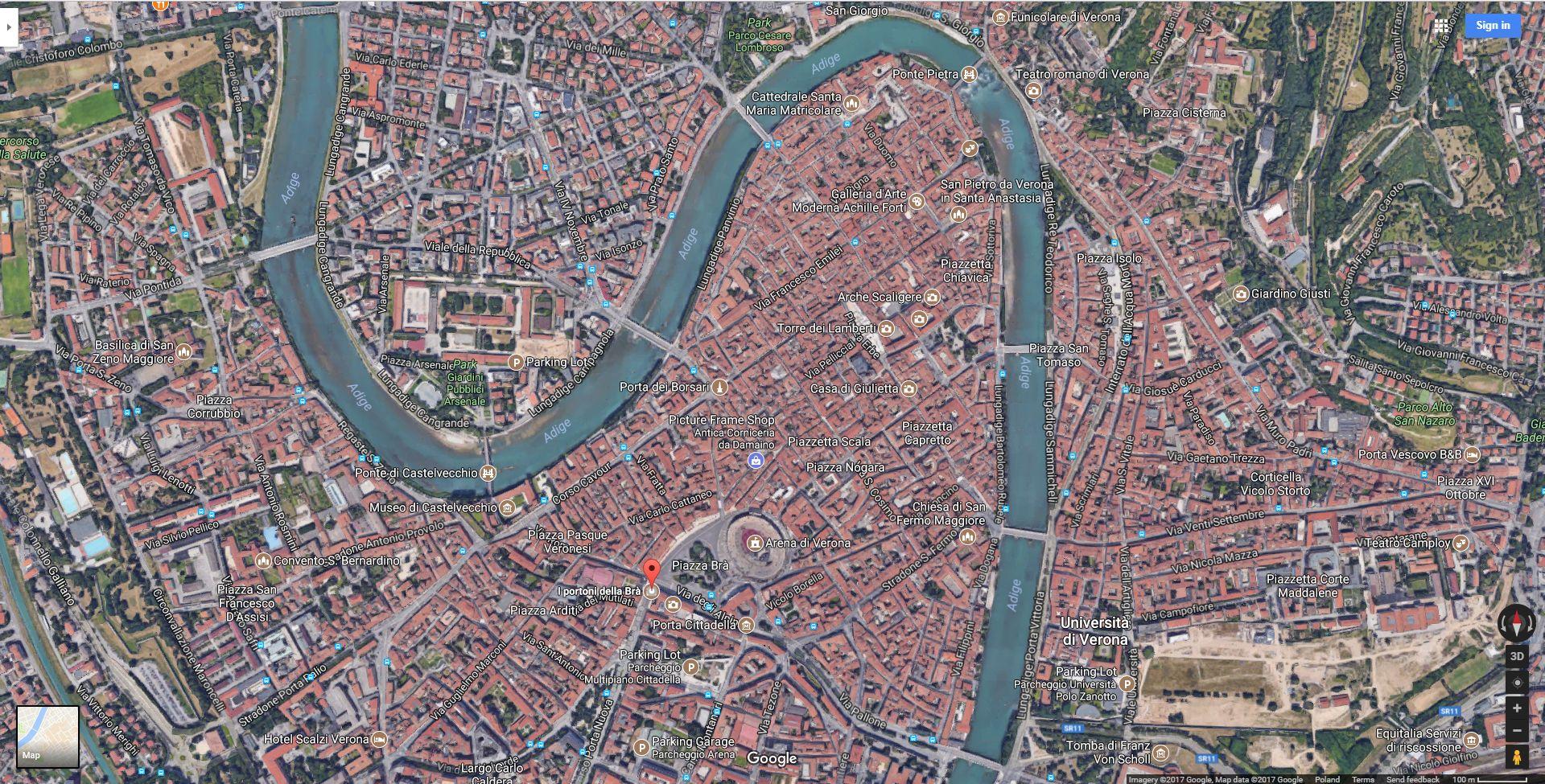 Antique city center of Verona